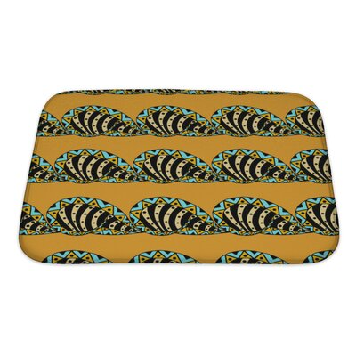 Slide Abstract Pattern Hand Drawn Bath Rug Size: Small