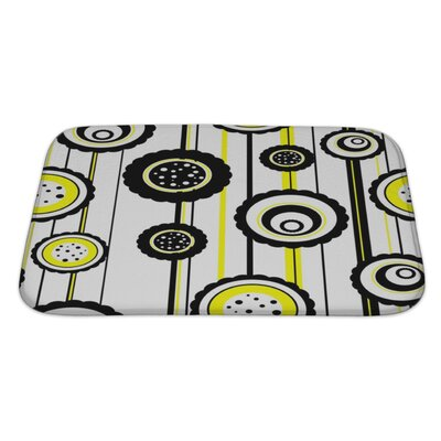 Fun Abstract Pattern Bath Rug Size: Large