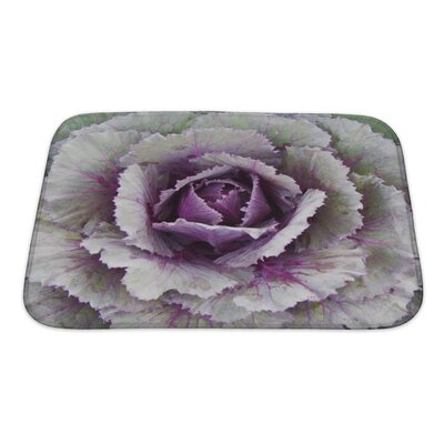 Flowers Ornamental Cabbage Bath Rug Size: Small