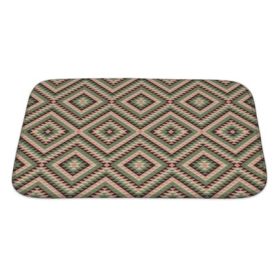 Beta Decorative Pattern Bath Rug Size: Large