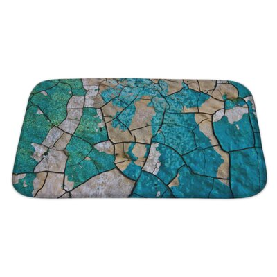 Wood the Old Cracked Paint on a Wall Surface Bath Rug Size: Large