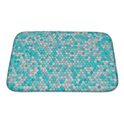 Creek Hexagon for Bathroom Pattern Bath Rug Size: Small