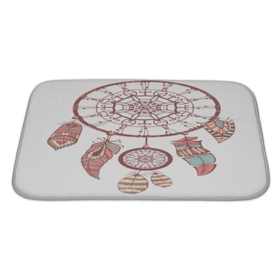 Tribal Dream Catcher Romantic Bath Rug Size: Large