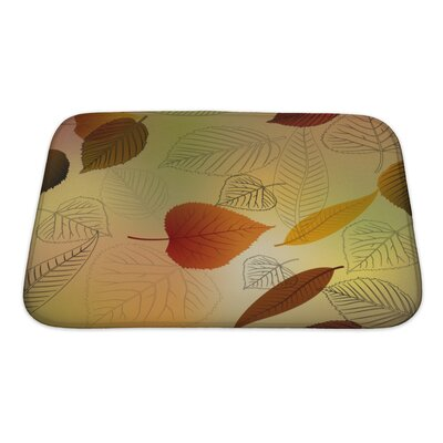 Leaves Autumn Leafs Fall Pattern Bath Rug Size: Small