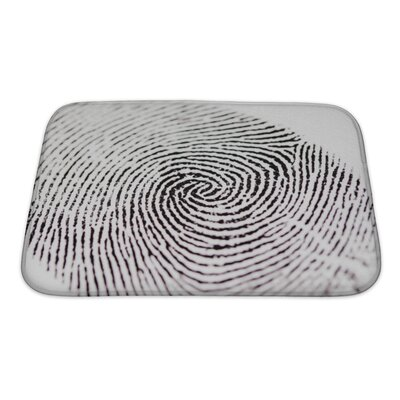 Human Touch Fingerprint Bath Rug Size: Small