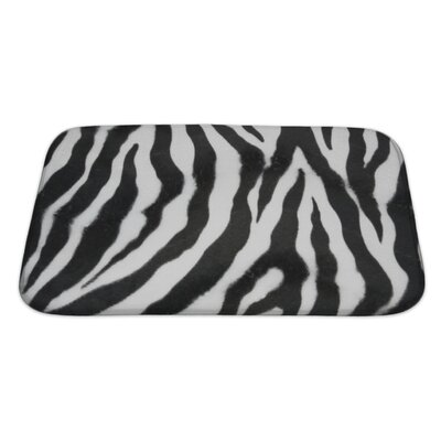 Animals Zebra Bath Rug Size: Large