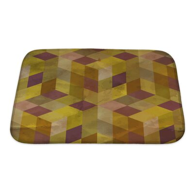 Delta Vintage Geometric Bath Rug Size: Small, Color: Purple/Yellow