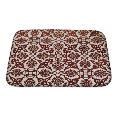 Kilo Vintage Pattern with Ethnic Ornament on Grunge Bath Rug Size: Small