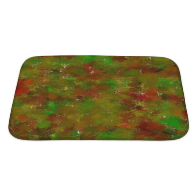 Art Beta Abstract-Impression with Autumn Tints Bath Rug Size: Large