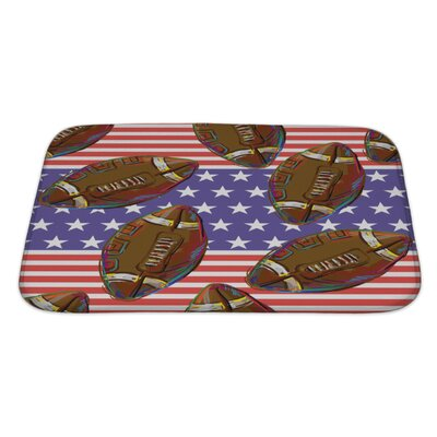 Soccer American Football Pattern Bath Rug Size: Large
