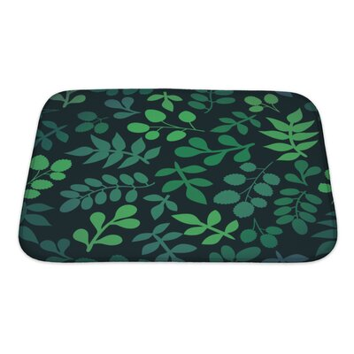 Cappa Leaf Bath Rug Size: Small