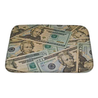 Patriotic Abstract of US $20 Dollar Bills Bath Rug Size: Small