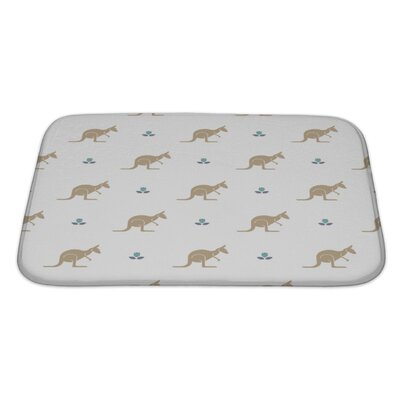 Animals with Flower and Kangaroos Australia Bath Rug Size: Large