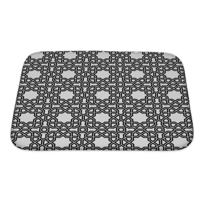 Creek Geometric Ornament with Fine Elements Bath Rug Size: Small