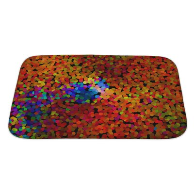 Art Alpha Abstract Blurred Effect, Bright Colors Rainbow Gradient Bath Rug Size: Large