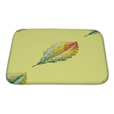 Leaves Autumn Variation Bath Rug Size: Small