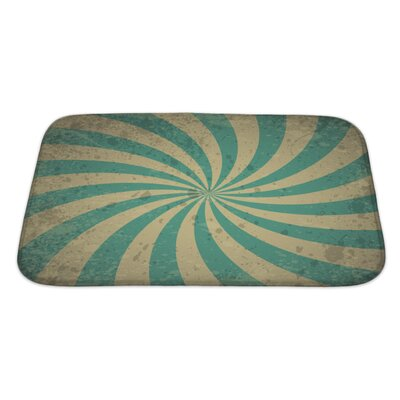 Alpha Vintage with Lines Bath Rug Size: Large