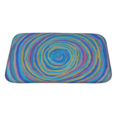 Beta Abstract Hand Drawn Paint Bath Rug Size: Large