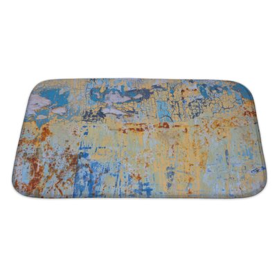 Art Primo Rusty Colorful Metal with Cracked Paint Bath Rug Size: Large