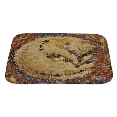 Animals Cat of Gustav Klimt Inspired Style Bath Rug Size: Large