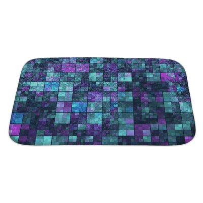 Kilo Mosaic with Abstract Color Pattern Bath Rug Size: Large