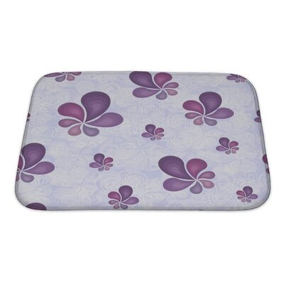 Nature Beautiful Leaf Pattern Bath Rug Size: Small