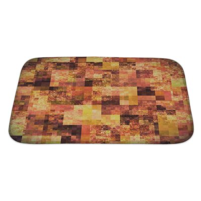 Art Touch Abstract Bright with Mosaic Pattern Bath Rug Size: Large