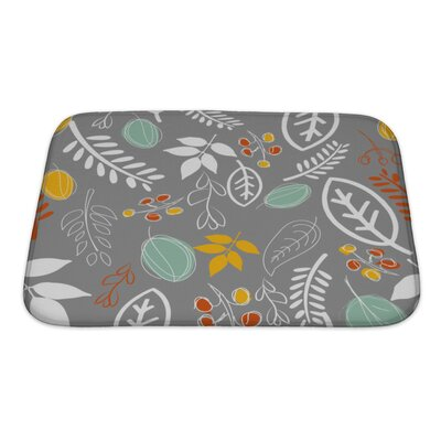 Leaves Leaf Pattern Bath Rug Size: Small