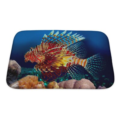 Fish Lionfish Bath Rug Size: Small
