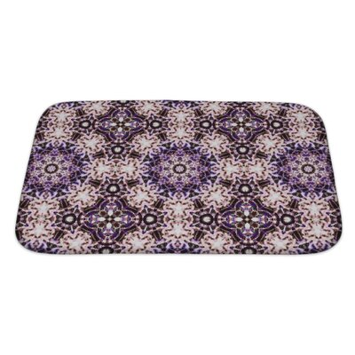 Simple Ethnic Pattern Abstract Kaleidoscope Bath Rug Size: Large