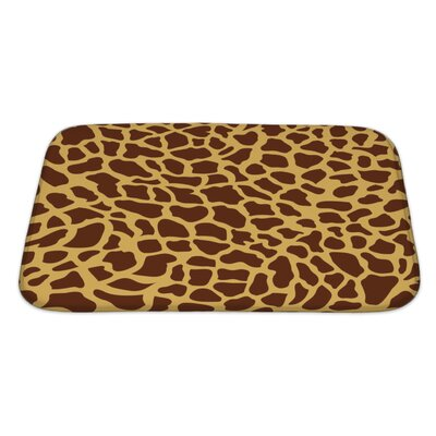 Cappa Giraffe-Shaped Monsaic Bath Rug Size: Large