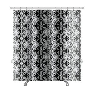 Cappa Traditional Oriental with Floral Motifs Premium Shower Curtain