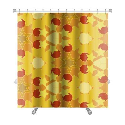 Creek Geometric Floral Premium Shower Curtain