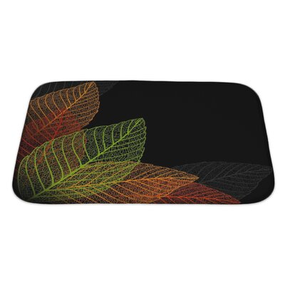 Leaves Skeleton Leaf Bath Rug Size: Large
