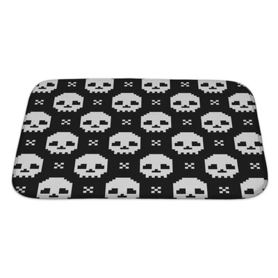 Danger Skull Bath Rug Size: Large