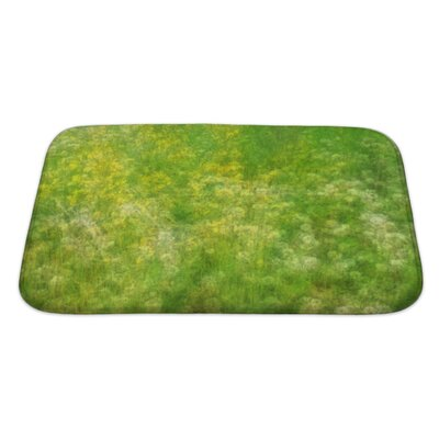 Bravo Field with Wildflowers Bath Rug Size: Large