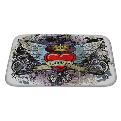 Danger Hewith Wings Bath Rug Size: Large