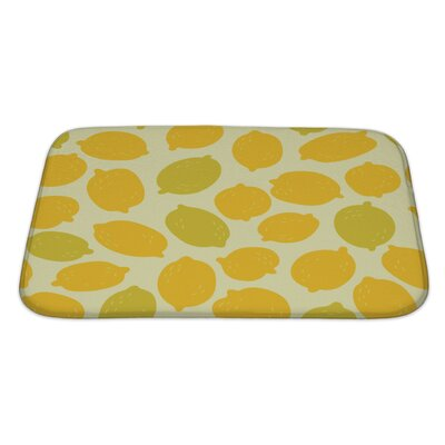 Primo Lemons Pattern Bath Rug Size: Large