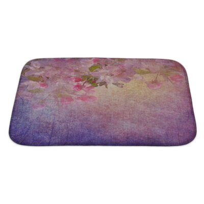 Simple Spring Apple Tree Flowers Bath Rug Size: Large