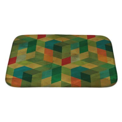 Delta Vintage Geometric Bath Rug Size: Large, Color: Green
