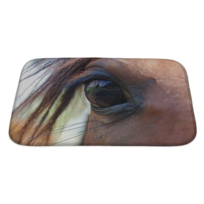 Animals Arabian Eye Bath Rug Size: Large