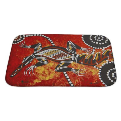 Animals Austarlian Aboriginal Style Bath Rug Size: Large