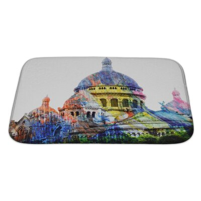 Art Hard Basilica of the Sacred Heof Motmartre Bath Rug Size: Large