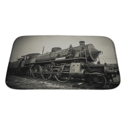 Vintage Old Train Photo Bath Rug Size: Large