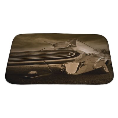 Cars Tail End of Classic Car Tone Bath Rug Size: Large