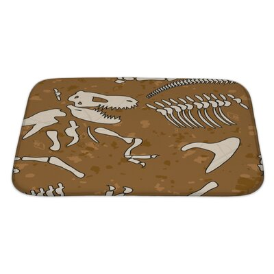 Dinosaurs Fossil Bath Rug Size: Large