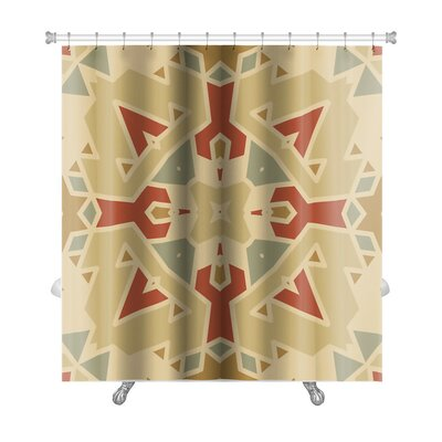 Creek Flat Ethnic Pattern Premium Shower Curtain