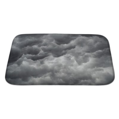 Nature Storm Clouds Before a Thunder-Storm Bath Rug Size: Large