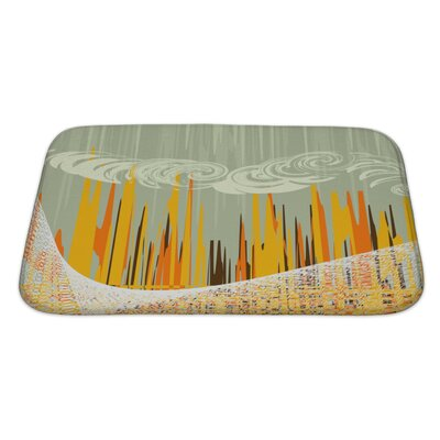 Art Beta Abstract with Industrial Landscapes Bath Rug Size: Large