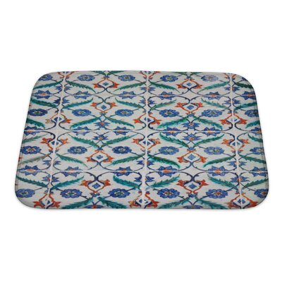 Creek Ancient Traditional Handmade Tiles Bath Rug Size: Small